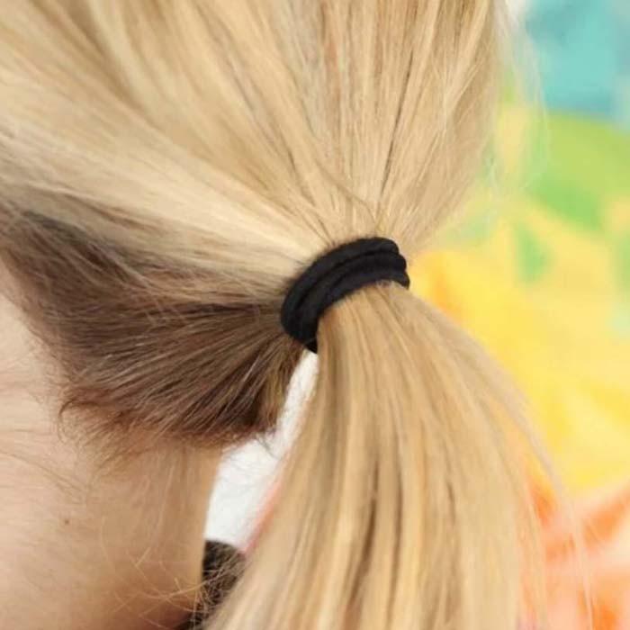 Pack of 27 Natural Rubber Hair Ties - Black