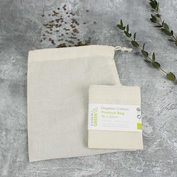 Organic Cotton Produce Bag - Small (18 x 22cm)