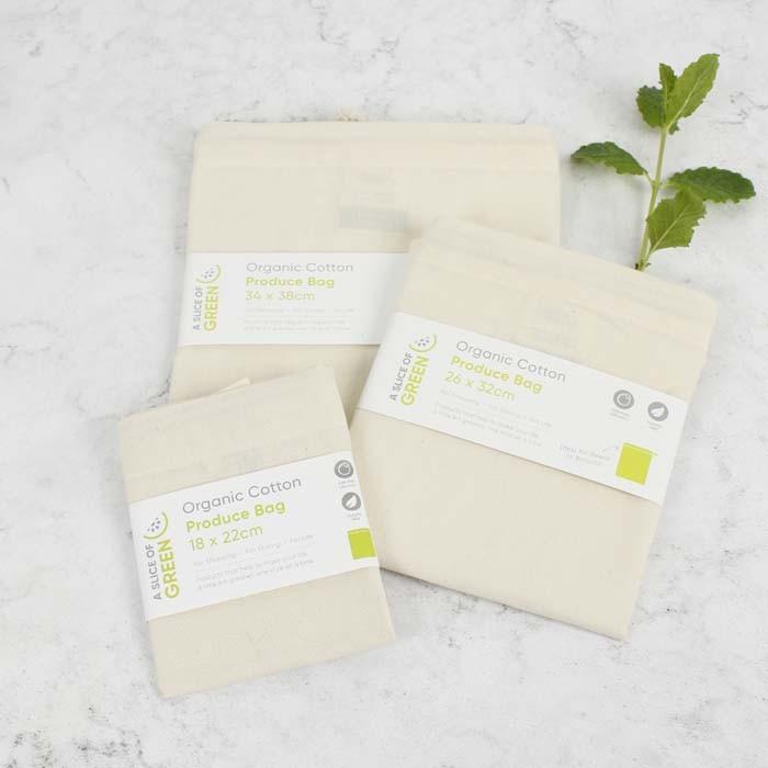 Organic Cotton Produce Bag - Medium (26 x 32cm)