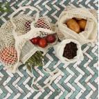 Organic Cotton Mesh Produce Bag - Small (18 x 22cm)
