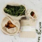 Organic Cotton Mesh Produce Bag Variety Pack - Set of 3