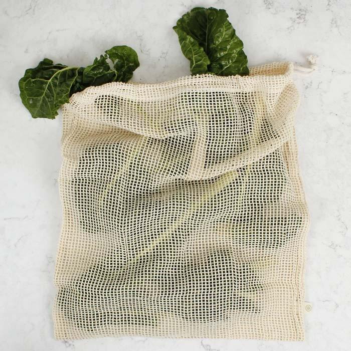 Organic Cotton Mesh Produce Bag - X-Large (43 x 50cm)