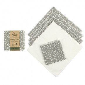 Organic Cotton Reusable Wipes - Meadow - Pack of 5